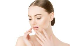 Free Beautiful Woman Face Close Up Studio On White Beauty Spa Model F Stock Photo - 73395720