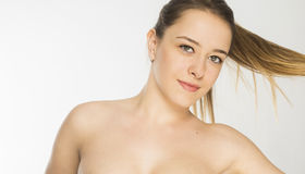 Beautiful woman face close up Royalty Free Stock Photography