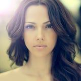 Beautiful Woman Face Closeup Stock Images