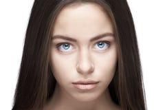 Beautiful woman face closeup Royalty Free Stock Images