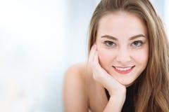 Beautiful woman face facial skin care royalty free stock image