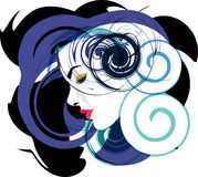 Beautiful Woman face illustration. Abstract Illustration of woman face made in adobe illustrator Royalty Free Stock Photo