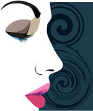 Beautiful Woman face illustration Royalty Free Stock Photos