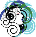 Beautiful Woman face illustration Stock Images