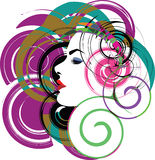 Beautiful Woman face illustration. Abstract Illustration of woman face made in adobe illustrator Stock Photography