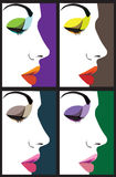 Beautiful Woman face illustration Stock Photography