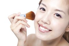 Beautiful Woman Face and Make-up Stock Image