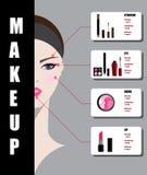 Beautiful woman face with makeup Stock Photos
