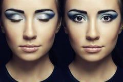 Beautiful woman face. Perfect Makeup Royalty Free Stock Photo