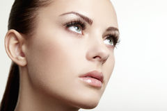 Beautiful woman face. Perfect makeup. Beauty fashion Royalty Free Stock Photos