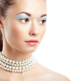 Beautiful woman face. Perfect Makeup Royalty Free Stock Photos