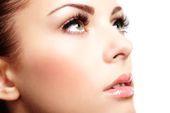 Beautiful woman face. Perfect makeup Royalty Free Stock Image