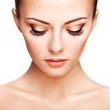 Beautiful woman face. Perfect makeup. Beauty fashion Stock Image