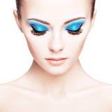 Beautiful woman face. Perfect makeup Stock Images
