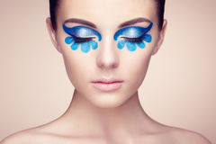 Beautiful woman face. Perfect makeup Stock Image
