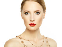 Beautiful woman face. Perfect makeup Royalty Free Stock Photos
