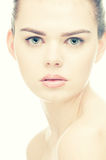 Beautiful woman face with perfect skin Royalty Free Stock Photos