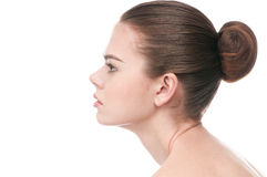 Beautiful woman face with perfect skin Royalty Free Stock Images