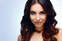 Beautiful Woman Face. Perfect Skin Royalty Free Stock Photo