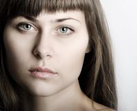 Beautiful woman face portrait Stock Photography