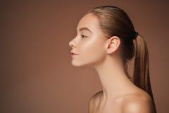 Beautiful woman face portrait close up Royalty Free Stock Photo