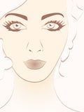 Beautiful woman face portrait vector illustration Stock Photography