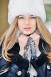 Beautiful woman face portrait closeup Stock Photos