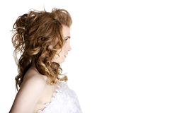 Beautiful woman face profile Royalty Free Stock Photo