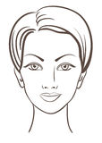 Beautiful woman face vector illustration Royalty Free Stock Photos