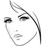 Beautiful woman face royalty free illustration