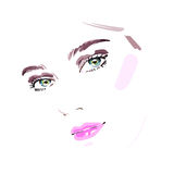 Beautiful woman face. Vector illustration drawing eps 10 Royalty Free Stock Photography