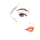 Beautiful woman face. Vector illustration drawing eps 10 Royalty Free Stock Photo