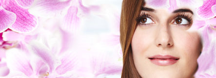 Beautiful woman face. Royalty Free Stock Images