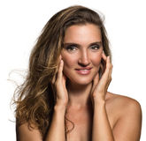 Beautiful woman face. Royalty Free Stock Photography