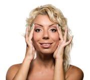 Beautiful woman face. Royalty Free Stock Photos