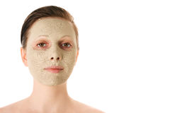 Beautiful woman with facial mask Royalty Free Stock Images
