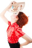 Beautiful woman with fan Royalty Free Stock Image