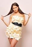 Beautiful woman in fancy gown. Stock Image