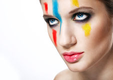 Beautiful woman with fancy make-up Royalty Free Stock Photography