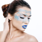 Beautiful woman with a fantastic make-up Stock Images
