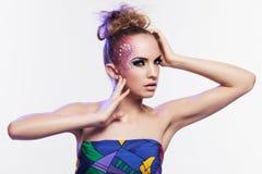Beautiful woman with fantasy makeup Stock Image