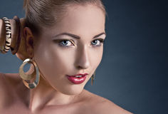 Beautiful woman. Fashion art photo. Royalty Free Stock Photos