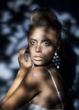 Beautiful woman fashion hairstyle, beauty make-up Royalty Free Stock Photos