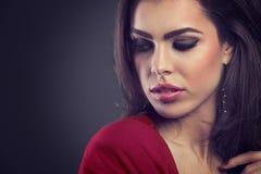 Beautiful woman with fashion make up Stock Image