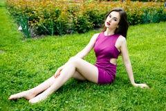 Beautiful woman with fashion makeup Royalty Free Stock Photo
