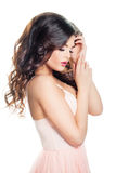 Beautiful Woman Fashion Model with Healthy Skin royalty free stock photography