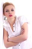 Beautiful woman fashion portrait Stock Images