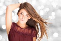 Beautiful woman fashion portrait Royalty Free Stock Photos