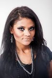 Beautiful woman. Fashion portrait. Close-up face makeup Stock Image