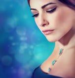 Beautiful woman fashion portrait Stock Photography